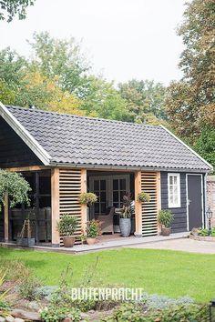 backyard shed ideas Backyard Sheds, Backyard Patio, Outdoor Rooms, Outdoor Living, Outdoor Decor, Shed Design, House Design, Garden Buildings, Exterior Design