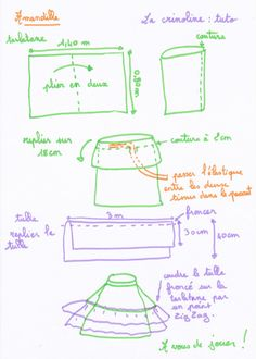 tuto couture facile : la crinoline (tuto gratuit - pattern free) Skirt Tutorial, Diy Tutorial, Costume Prince, Techniques Couture, Cosplay Makeup, Mode Inspiration, Pattern Making, Diy Fashion, Sewing Patterns
