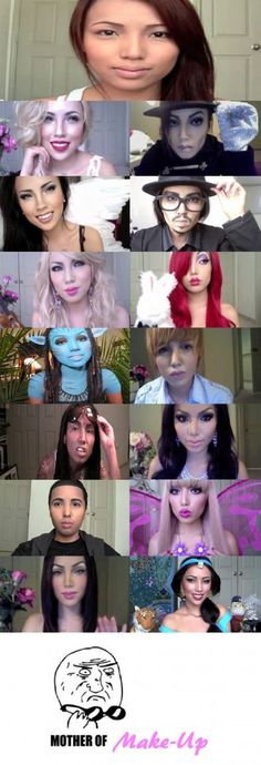 don't trust that pretty face until you see it in the morning lol women can do anything with makeup