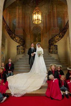 Archduke Christoph of Austria and Adelaide Drape-Frisch wedding at the Basilica of Saint Epvre in Nancy, France, 29 Dec 2012 Royal Wedding Gowns, Royal Weddings, Wedding Bride, Wedding Dresses, Gala Dinner, Royal Brides, Prince And Princess, Princess Kate, Royal House