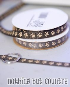 how to make collars for the adopt a puppy favors. Puppy dog birthday party activity