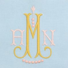 Monogram Fonts – The Loveliest, Embroidery Monogram Fonts, Embroidery Applique, Machine Embroidery, Embroidery Ideas, Guest Towels, Practical Gifts, Delphinium, Couture, Needlework