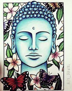Boeddha pencil art