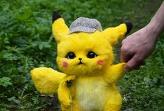 Detective Pikachu | Etsy Pikachu Face Painting, Pikachu Drawing, Pikachu Art, Cute Pikachu, Baby Animals Super Cute, Cute Kawaii Animals, Cute Little Animals, Cute Pokemon Wallpaper, Cute Cartoon Wallpapers
