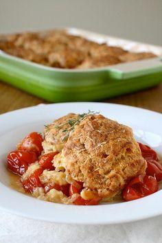 Annie's Original Recipe: Tomato Cobbler with Gruyere Biscuits