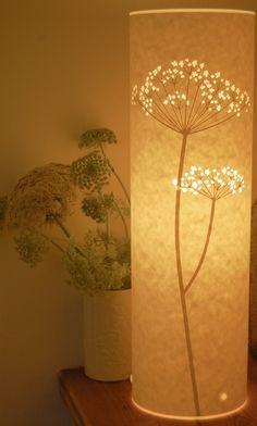 floral light source [laser-cut paper lamp with Queen Anne's Lace design]