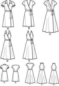 wrap dress pattern free - Google Search