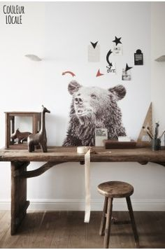Our Groovy Magnets Magnet Wallpaper Bear by couleur locale - Groovy magnets