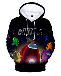 Details about  /Game Among Us Print Cute Boy Hoodies Sweatshirt Jumper Hooded Slim Pullover Top
