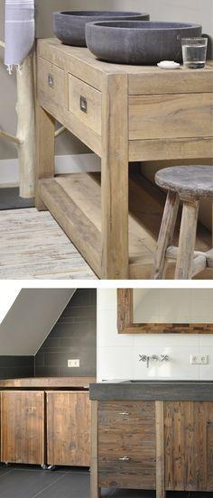 villa d'Esta | interieur en wonen: Badkamer meubels met een stoere uitstraling | Restyle XL