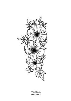 Flower Tattoos, Small Tattoos, Cool Tattoos, Doodle Quotes, Floral Drawing, Art Sketches, Art Drawings, Floral Illustrations, Future Tattoos