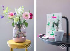 Verliefd op bloemen en vaas :-)