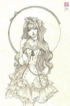 Cara  Original Drawing by jasmindarnell on Etsy
