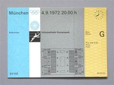 Munich 1972 Olympics Badminton Ticket - Otl Aicher