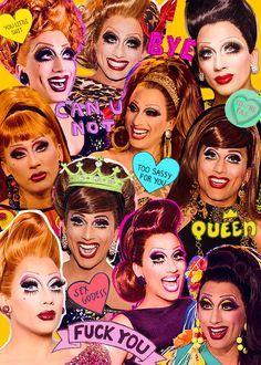 drag queen rupaul collage - Pesquisa Google