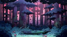 The Magic of Animation~Scenery Seen through Gravity Falls Fall Background, Background Drawing, Cartoon Background, Animation Background, 2d Game Background, Background Patterns, Gravity Falls Art, Autumn Art, Environmental Art