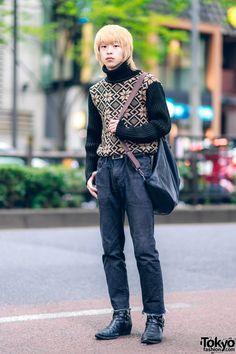 Fembois, Peach, Punk, Style, Fashion, Street Style, Asian Fashion, Swag, Moda