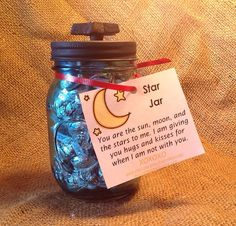Star Jar blue tinted mason jar black chalkboard by ButtonBlessings, $22.00
