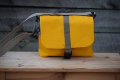 Kid  Toddler Messenger Bag  Yellow w/Navy Plaid by ThePierMarket