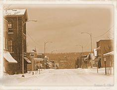 Old Main Street in the Snow