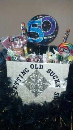 E Eceabf Eae Birthday Gift Baskets Gifts Jpg 236x418 Diy 50th Candy Basket Poem