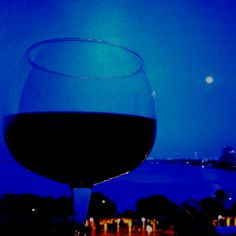 Enjoying some wine under the moonlight :)