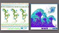 FLIP diseños en pareja - FLIP designs couple ; ) - tribal - japanese sea dreams - lagartos, sueño marino inspirado en arte japonés