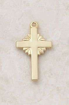 """22kt. Gold over Sterling Silver, Gold Cross Medal with 20"""" Chain, 1"""" H CR001 http://www.amazon.com/dp/B0074Q2HQI/ref=cm_sw_r_pi_dp_KeSewb13DNJR5"""