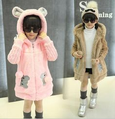 Awesome 2017 winter children's clothes causal cartoon long sleeve thicken cashmere hooded baby girls cardigan sweaters for girls kids - $ - Buy it Now!