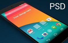 Nexus 5 skewed perspective template
