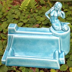 Mermaid business card holder office decor translucent by muddyme, $20.00