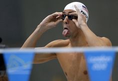 Michael Phelps of the U.S. prepares to take part in his men's 200m individual medley heat on August 1, 2012. (Reuters/Jorge Silva)