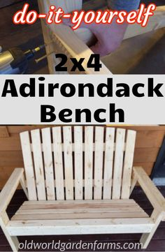 The DIY Adirondack Bench For 2 - The Perfect Indoor Winter Project! - The DIY Adirondack Bench For 2 – The Perfect Indoor Winter Project! The DIY Adirondack Bench – How we made this bench with 13 boards. Fire Pit Furniture, Diy Garden Furniture, Diy Outdoor Furniture, Diy Furniture Projects, Woodworking Furniture, Diy Wood Projects, Diy Woodworking, Furniture Plans, Wood Furniture