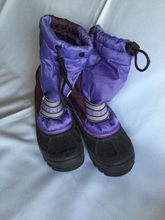 SOREL Kids Youth Girls Boots Size 1 purple. Look At Photos,see Detail,used #SOREL #Boots