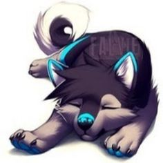 Matias bebe wolves in 2019 cute animal drawings, anime wolf, furry art. Pet Anime, Anime Animals, Anime Art, Manga Anime, Mythical Creatures Art, Fantasy Creatures, Cute Animal Drawings, Cute Drawings, Wolf Drawings