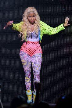 Bring on the prints & neon for a Nicki Minaj inspired Halloween costume