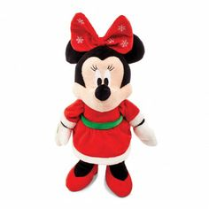 MINNIE MOUSE Holiday Plush IF I ever have one she is getting THIS!
