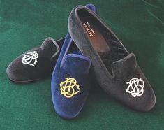 Shipton Custom Monogram Slippers for men