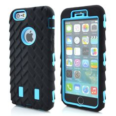Shockproof Rugged Combo Tyre Armor Case for iPhone6 plus AKP