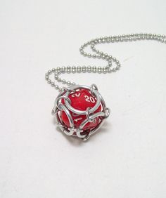 dice, necklace, Dungeons and dragons, dice pendant, D20, dice jewelry, geek, geeky, DND, geekery
