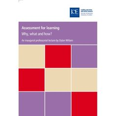 Assessment for Learning: Why, What and How?: Dylan William: 9780854737888: Books - Amazon.ca