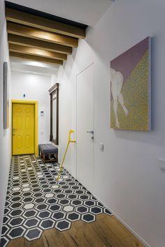 Lemon yellow door