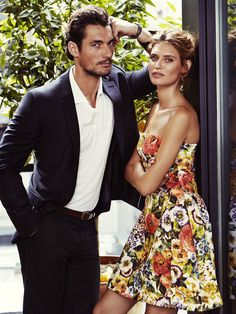 What a Male Supermodel Doesn't Understand About Women and Beauty | David Gandy & Bianca Balti for Glamour August 2014