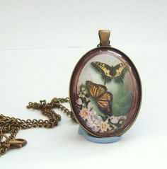 Handcrafted Antique Bronze Glass Pendant 2 by DBHjewellery on Etsy, $14.75