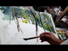 Watercolor landscape painting techniques demo by Ratnashwar Sutradhwar - YouTube
