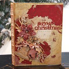 Merry Christmas Configuration Book (Would make a beautiful scrapbook cover) Christmas Mini Albums, Christmas Journal, Christmas Minis, Christmas Books, Vintage Christmas, Christmas Crafts, Merry Christmas, Christmas Ideas, Christmas Layout