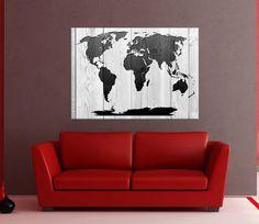modern wall art canvas world map modern canvas art black and white wall art