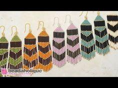 How to Make the Chevron Beaded Fringe Earrings Kit by Beadaholique - YouTube
