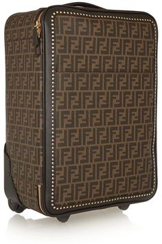 Fendi – Printed faux textured-leather travel trolley