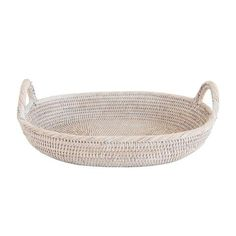 Light Rattan Oval Tray